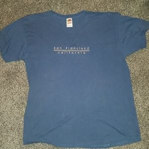 Fruit of the loom blue t-shirt top size xl